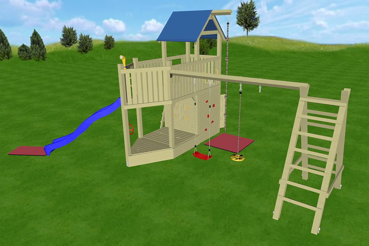 Spielturm Sitting Bull, Variante 02