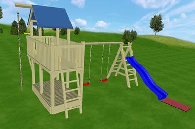 Plac zabaw dla dzieci, Big Snake, wariant 02